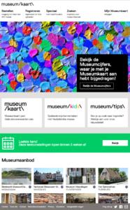Oude website museumkaart